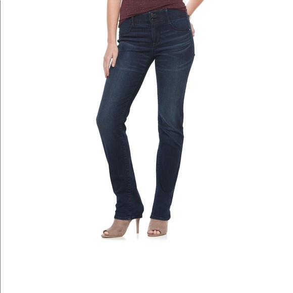 b842bf25da1 Apt. 9 Denim - Apt 9 Tummy control straight leg jeans